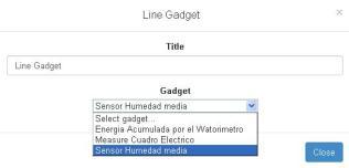Line Gadget configuration