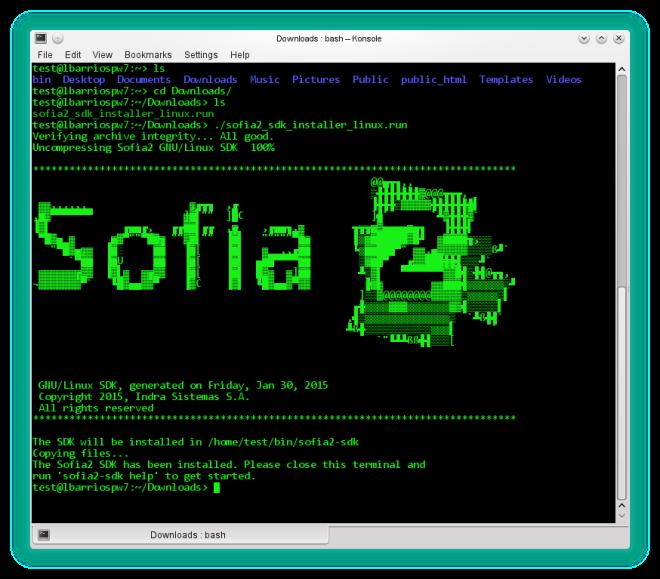 Instalador del SDK Linux